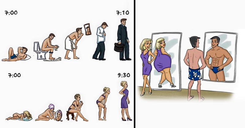 Some Cheeky Differences Between Men and Women