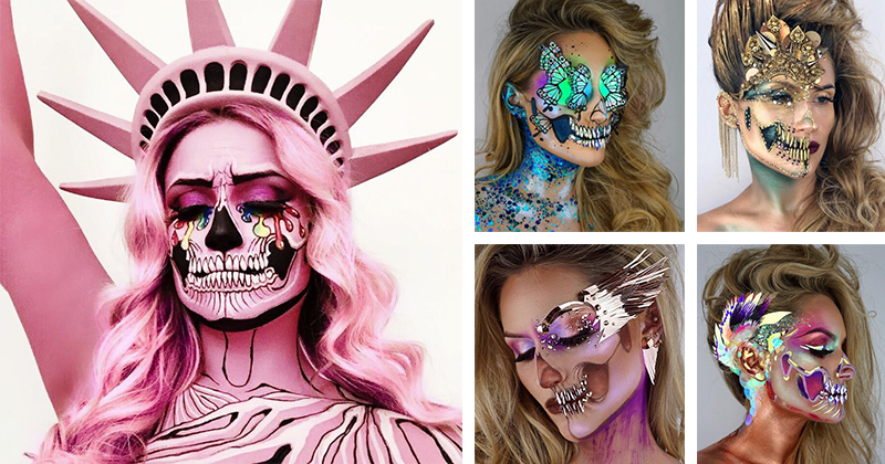 21 Best Freaky Skull Make Up Pieces By The Skulltress