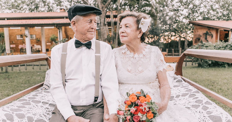 Couple With No Pictures Of Their Wedding Day Has A Photoshoot 60 Years Later