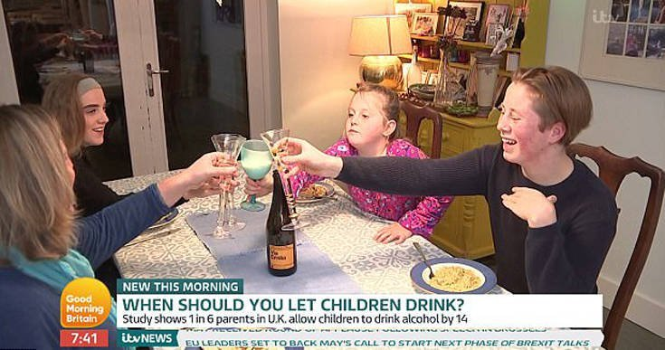 Mom Lets Kid Drink Booze From Age 13