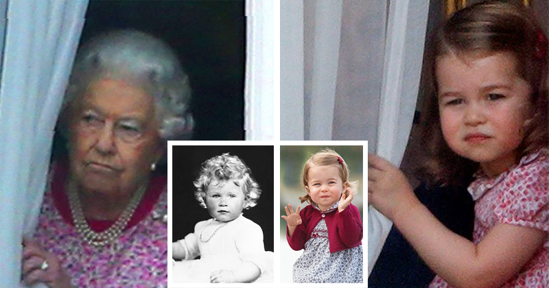 You Won't Believe How Similar Princess Charlotte Is To Queen Elizabeth