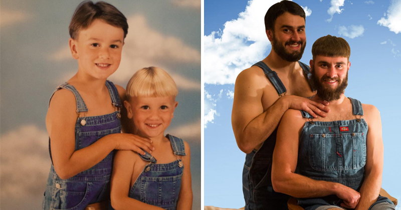 25 Hilarious Sibling Photo Recreations Will Crack You Up