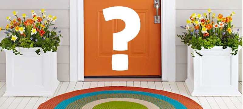 What Is The Text On Your Doormat?
